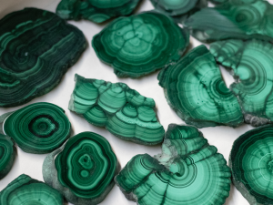 Malachite Slices Minerals from Africa